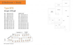 treasure-at-tampines-floor-plan-2-bedroom-study-type-b7s