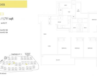 treasure-at-tampines-floor-plan-5-bedroom-type-E3