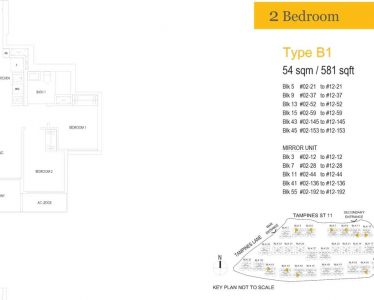 treasure-at-tampines-floor-plan-two-bedroom-type-b1
