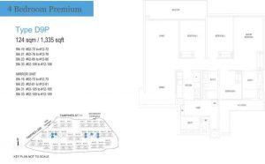 treasure at tampines floor plan 4 bedrooms premium