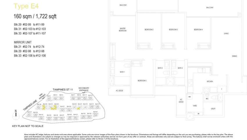 treasure at tampines floor plan 5 bedrooms